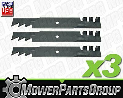 "(3) Mulching Blades Fits Hustler 48"" Raptor SD, Fastrak Replaces 795757 601123"