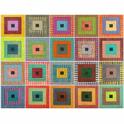 Set of 20 Ceramic Border Tiles - Square Dance by Cindy Head