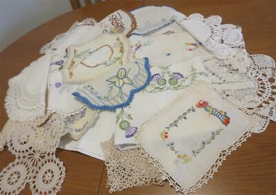 19 Vintage DOILIES for 'CRAFT WORK' Purpose