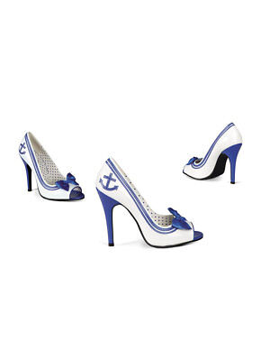 1 Pair Shoes Sexy Navy Lady Blue-White Size 37-41 Gogo Carnival