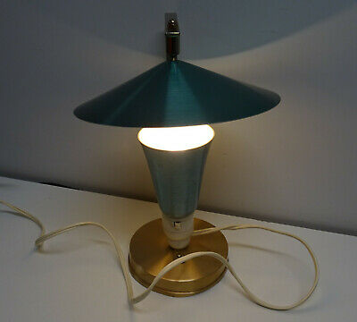 Mid Century Space Age Atomic Anodised Tv Lamp