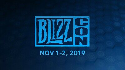 BlizzCon 2019 Pass tickets with Alliance Footman &Virtual Bonuses Goodies