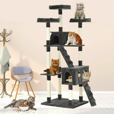 "72"" New Kitten Cat Tree Tower Condo Furniture Scratching Kitty Pet Play House"