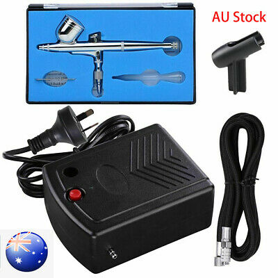 AU Compressor Airbrush Kit 0.3mm Dual Action Spray Air Brush Gun Art Tattoo Set