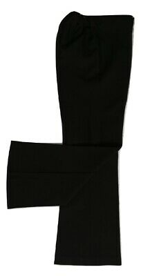 New BHS GIRLS PULL UP ON SCHOOL TROUSERS HALF ELASTIC WAIST UNIFORM PLAIN BLACK