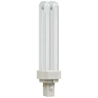 FREE POSTAGE 18W G24d-2 BLD Double Turn 2-Pin Cool White Bulb PL lamp