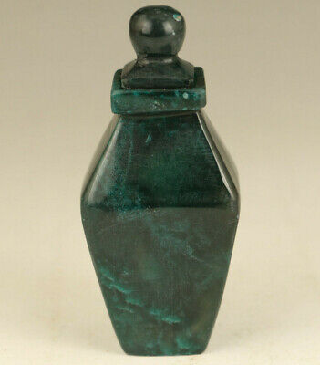 Antiques rare Chinese jade Handcarved noble snuff bottle gift decoration