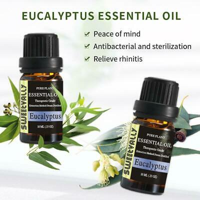 2 Bottle Eucalyptus Essential Oils Natural Pure Aromatherapy Humidifier Diffuser