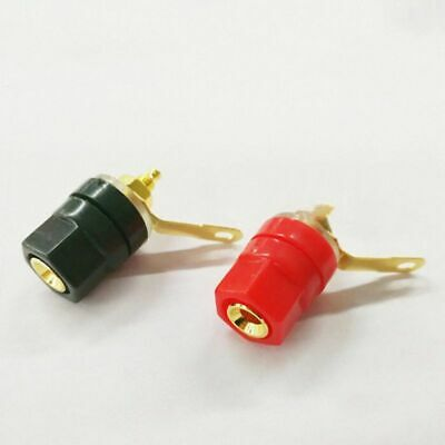 50pcs Gold plated Binding Post for Speaker Amplifier 4MM Plug terminal