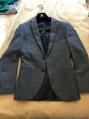 ****** Next Grey Slim Suit jacket Wool 38R VGC *****