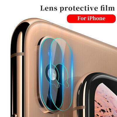 9D Camera Lens Tempered Glass Screen Protector For iPhone Xs Max Xr 8 7 6s Plus