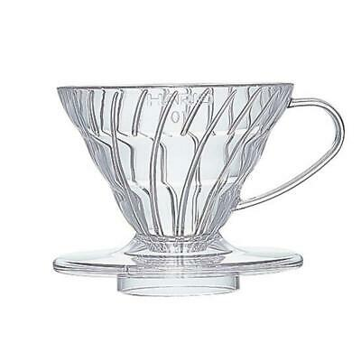Hario VD-01T 1-Piece Plastic Coffee Dripper, Clear Size 01,