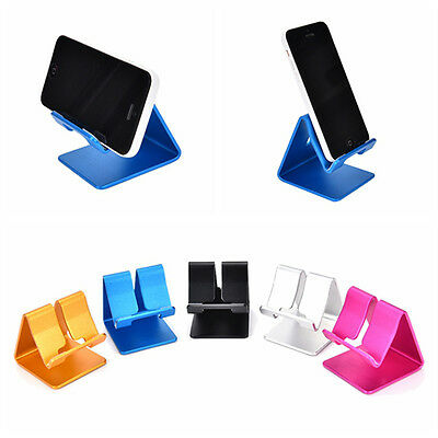 Universal Aluminum Cell Phone Desk Stand Holder For Samsung Iphone Table HC