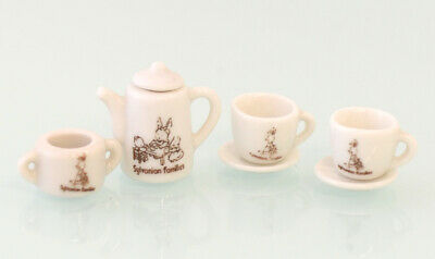 Sylvanian Families USED TEA SET Ceramic Vintage Epoch Calico Critters