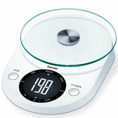 Beurer Kitchen Scales KS 33 5kg White Food Weighing Scales Measure Scales