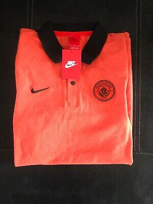 BNWT New Manchester City Official Nike Polo Shirt Mens Small