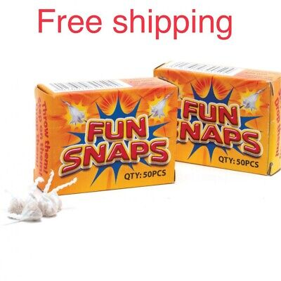 Fun Snaps 2 Small Boxes Noise Maker Pop Bang Snap Throw Down Poppers Gag Prank