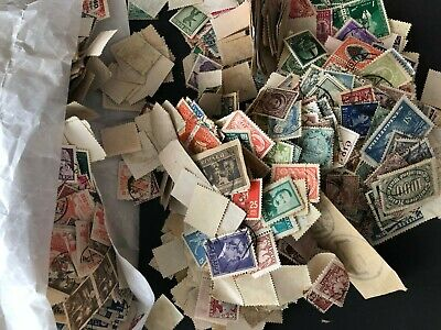 Worldwide Kiloware Stamps. Mixed lot of approx. 1,500 Off Paper OVER 140 grams.