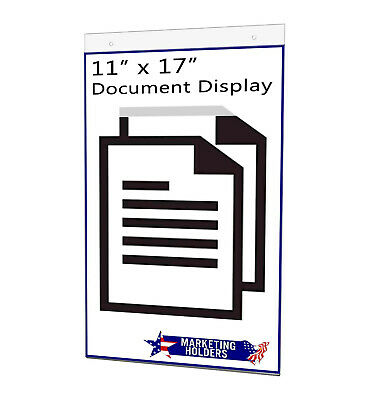 "Sign Holder Ad Frame 11""W x 17""H Wall Mount with Mounting Holes"