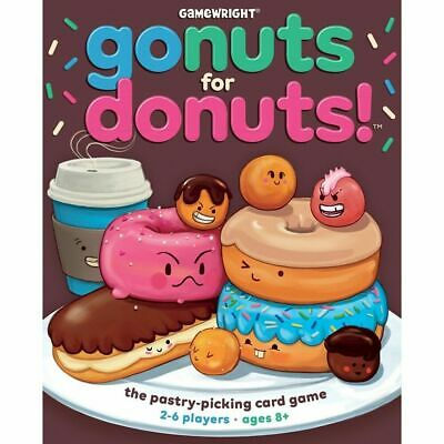 Gonuts for Donuts Card Board Game by Gamewright (New, Factory Sealed)