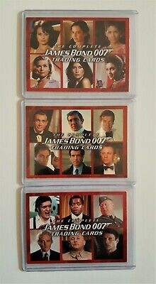 The Complete James Bond Promo Cards Set P1 P2 P3 By Rittenhouse (2007)