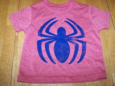 New Spider Man Spiderman red navy blue graphic tee T Shirt infant Toddler Sz 12m