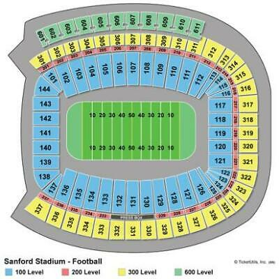 4 LL w/seatbacks - Georgia Bulldogs vs. Arkansas State Football Game
