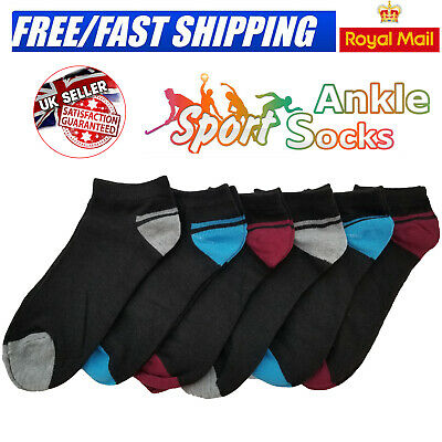 6 PAIRS ANKLE SPORTS SOCKS FUNKY NOVELTY WOMENS MENS LINER DESIGNS ADULTS 6-11