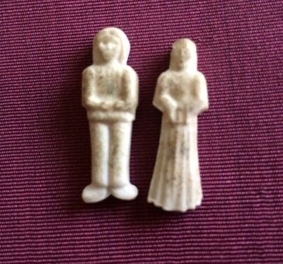 2 Feves Ancien Couple Old Bean For Cake Epiphanie Magi King Christian Tradition