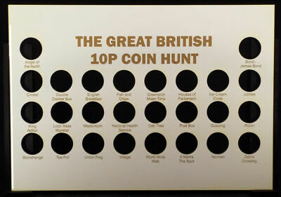 The Great British 10p Coin Hunt Board to fit A4 Frame
