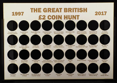 The Great British £2 Coin Hunt  Display Board Without Frame