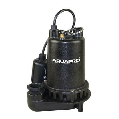 Sump Pump 1/2 Hp AquaPro Cast Iron Waste Fresh Water Sewage Pond Fountain Flood