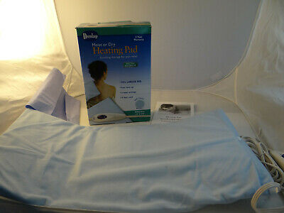"Dunlap Moist Dry Heating Pad Auto Shut Off King Size 12 x 24"" 9 Foot Cord"