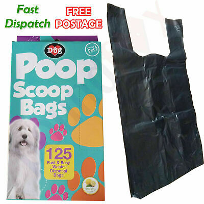 125x PET POOP SCOOP WASTE PICKUP BAGS Dog Cat Puppy Large POO BAGS scented UK