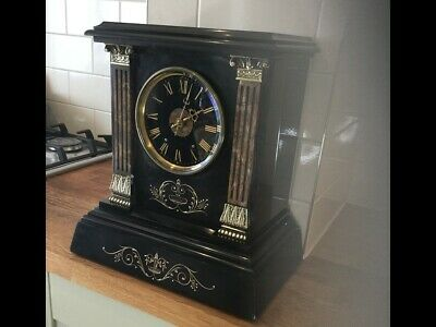 Antique Marble/Slate/Mantle Clock J/W.BENSON -  Circa 1880