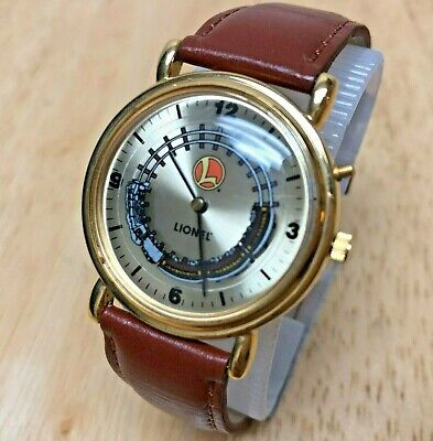 Vintage Collectible Lionel Train Analog Quartz Watch Hours~Play Sound~New Batter