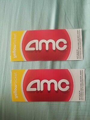 2x AMC movie theatre yellow adult passes / tickets