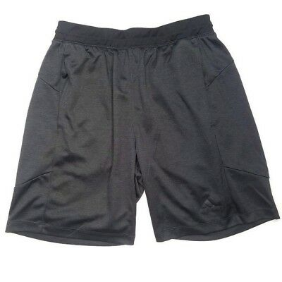 Adidas Climalite Shorts Youth Medium YM Boys Girls Black Gray Soccer Athletic