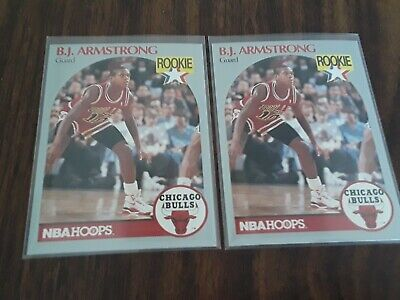 1990 91 Nba Hoops 60 Bj Armstrong Chicago Bulls Rc Rookie