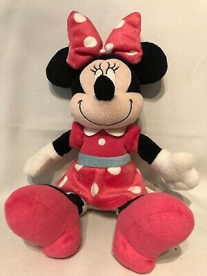 """Disney Baby Minnie Mouse 12"""" Plush Doll Pink Polka Dots Toy"""