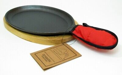 Old Mountain Cast Iron Pre-seasoned Large Fajita Set