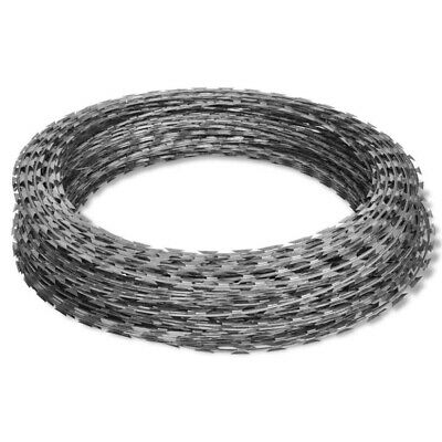 "NATO Razor Wire Helical Wire Roll 197""+ Barbed Wire Entanglement Wire Roll 328"""