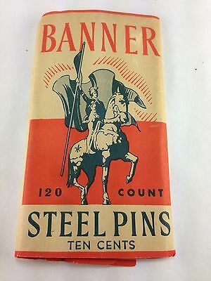 Vintage Banner Steel Pins Ten Cents