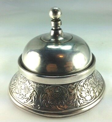 Very Rare American Twist Top Mechanical Hotel Bell by Meriden Silver Plate 1868