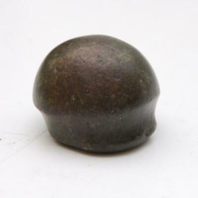 PRE COLUMBIAN_Mayan Greenstone Black Jade Bead Stone Polisher Tool_29.9mm