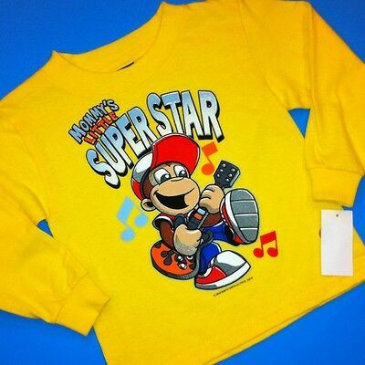 "NEW! ""Mommy's Little SUPER STAR"" Boys Graphic Shirt 3T Gift! Monkey Guitar $16"