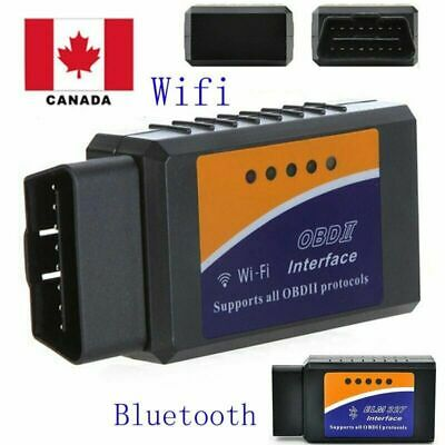 ELM327 WiFi $  Bluetooth OBD2 OBDII Car Diagnostic Scanner Code Reader Canada