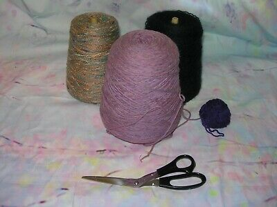 Lot Nomis & Heirloom cone machine or hand yarn navy blue purple variegated