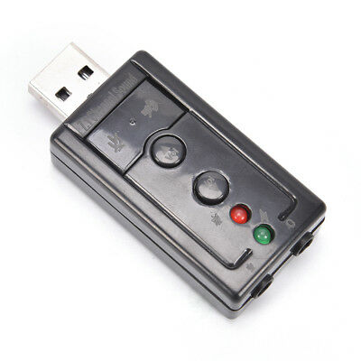 Mini USB 2.0 3D Virtual 12Mbps External 7.1 Channel Audio Sound Card Adapter UP