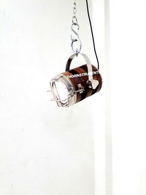 Nautical Royal Marine Brown Wooden Collectible Ceiling/Pendant Hanging Light